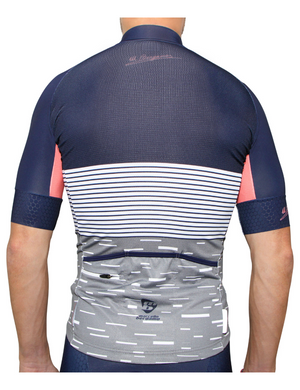 Amalfi Stripe Splice White Jersey