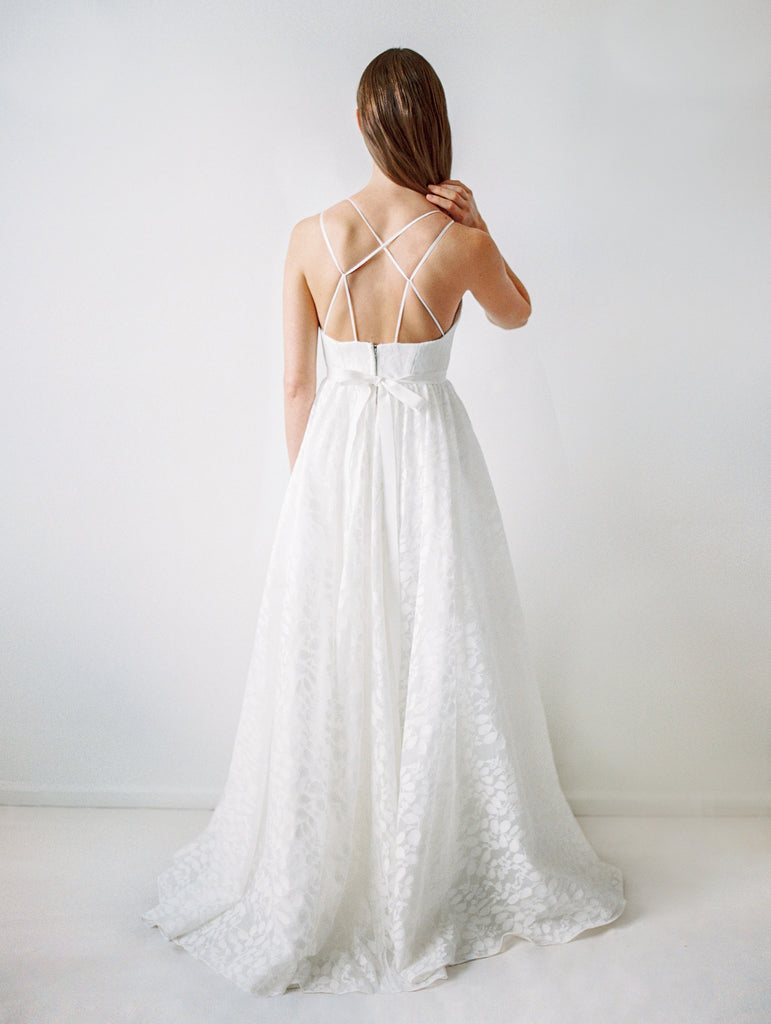 water resistant wedding gown