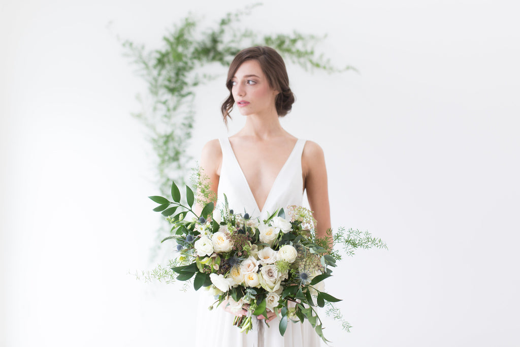 modern and effortless wedding dress