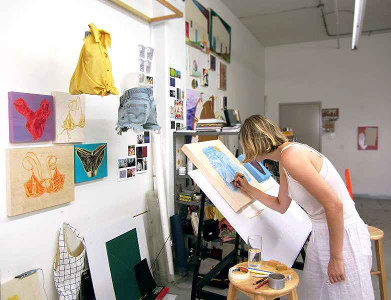 Ariane Fairlie in her Studio