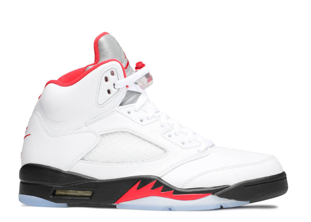 "Air Jordan 5 Retro ""Fire Red (Silver Tongue)"""