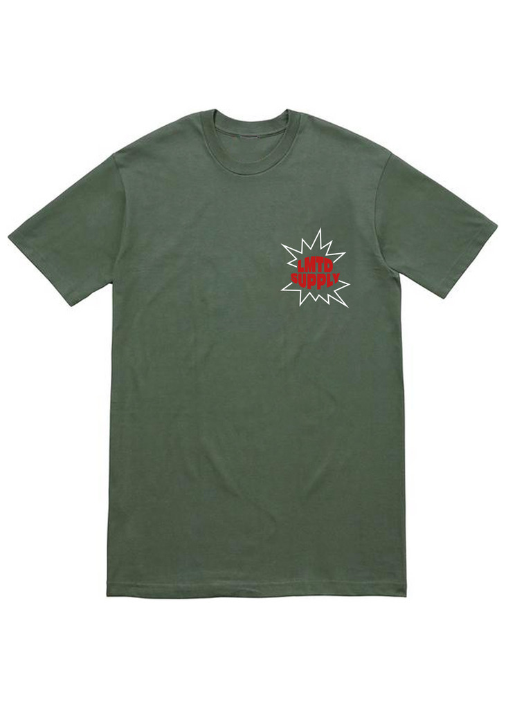 LMTD SUPPLY EXPLOSION SHORTSLEEVE (OLIVE)