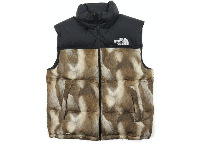 "PRE-OWNED Supreme x TNF ""Fur Print"" Nuptse"