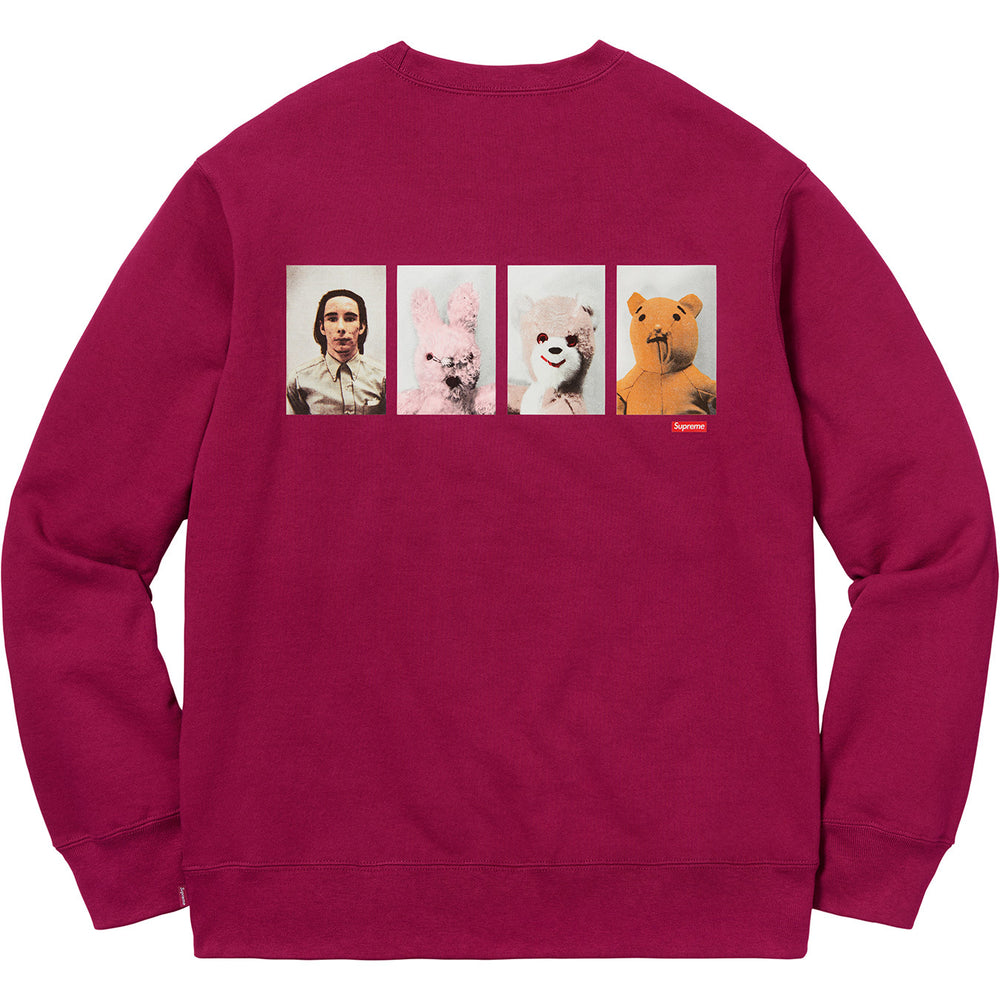 "Supreme x Mike Kelley ""AhhYouth!"" Crewneck Sweatshirt (Dark Magenta)"