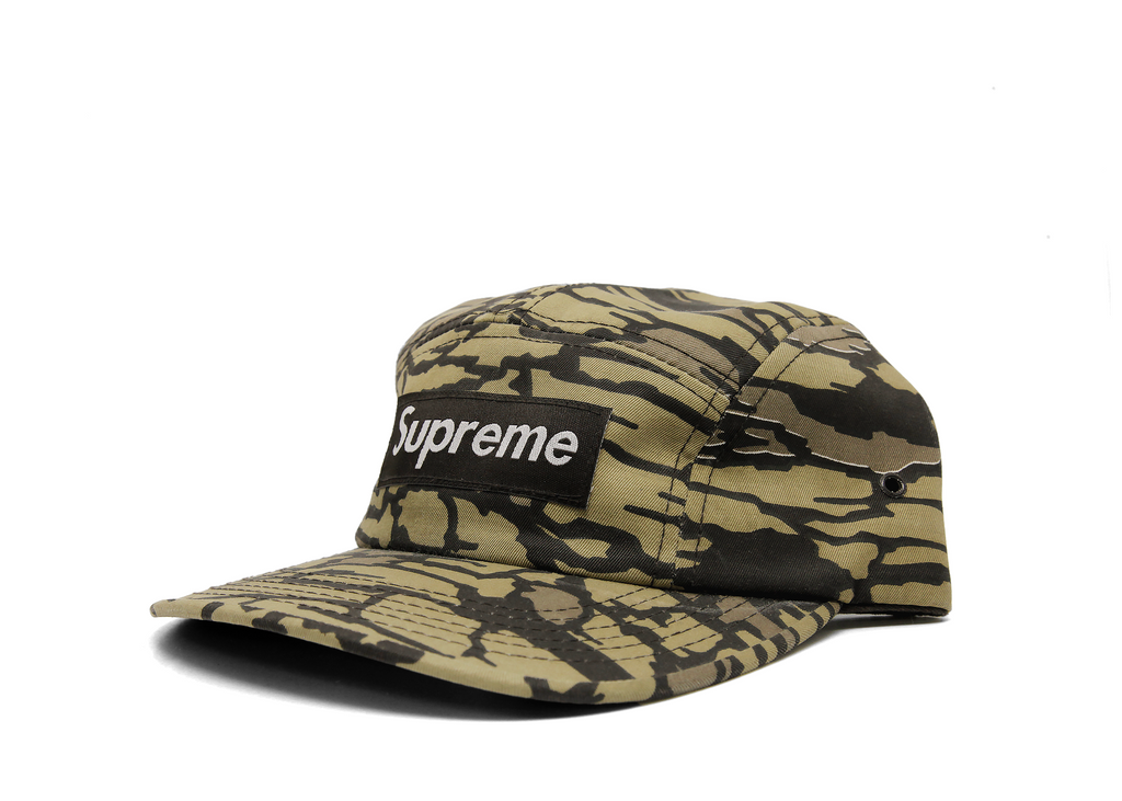 Supreme Camp Hat Yellow Cement