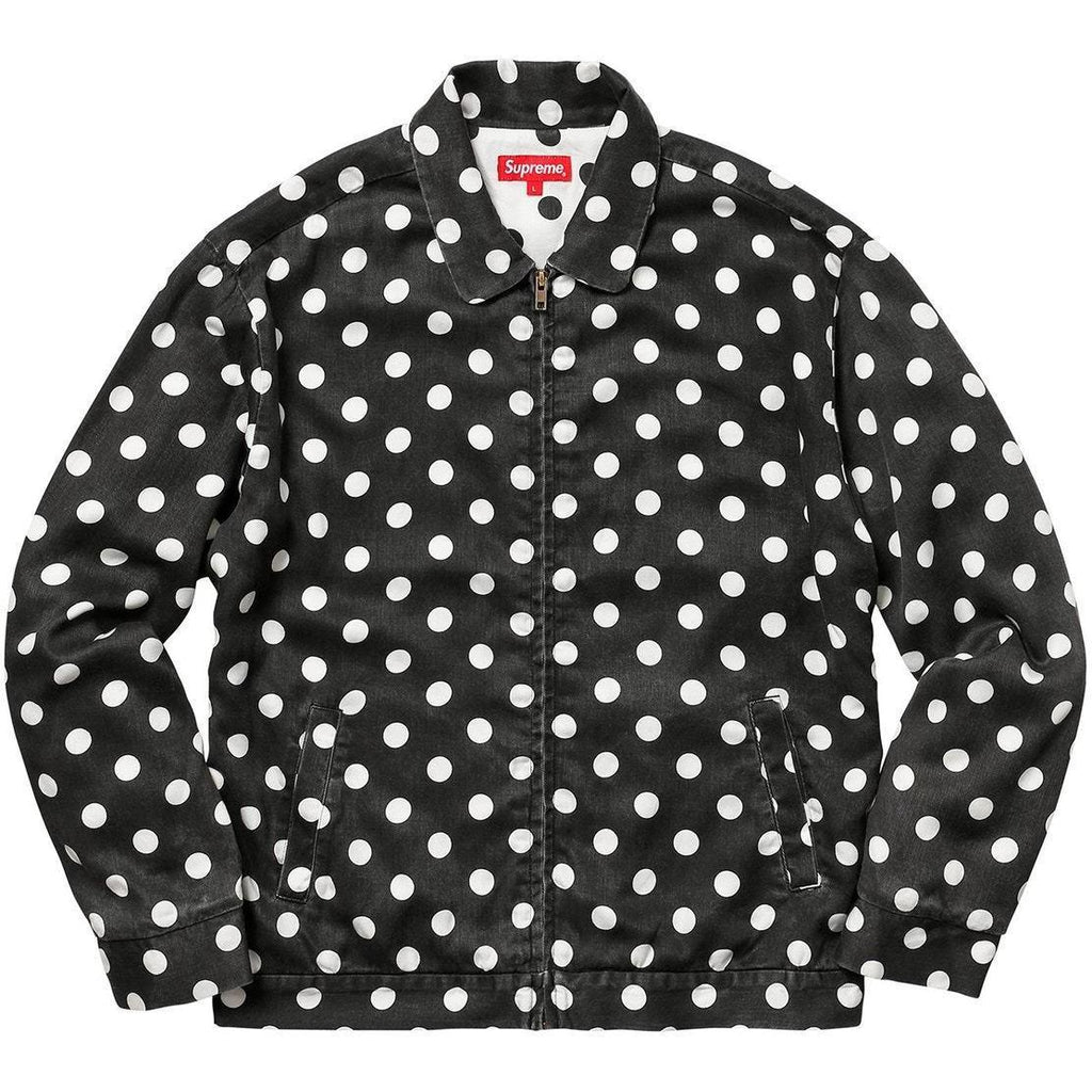 "Supreme ""Polka Dot"" Rayon Work Jacket"