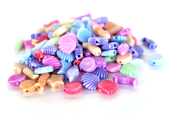 Pastel Collection | Sea Shell Beads (150/Pack) - Kandies World