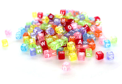 Translucent Rainbow Alphabet Beads - Kandies World
