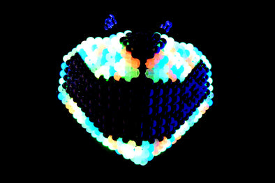 Trippy Glow Cheshire Full Face Kandi Mask - Kandies World
