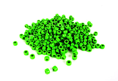 Green Barrel Pony Beads (300/Pack) - Kandies World