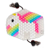 Glow In The Dark Rainbow Unicorn Surgical Kandi Mask - Kandies World