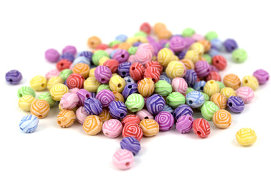 Pastel Collection | Roses Flower Beads (200/Pack) - Kandies World