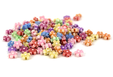 Pastel Collection | Daisy Flower Beads (150/Pack) - Kandies World