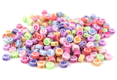 Pastel Collection | Round Alphabet Beads (300/Pack) - Kandies World