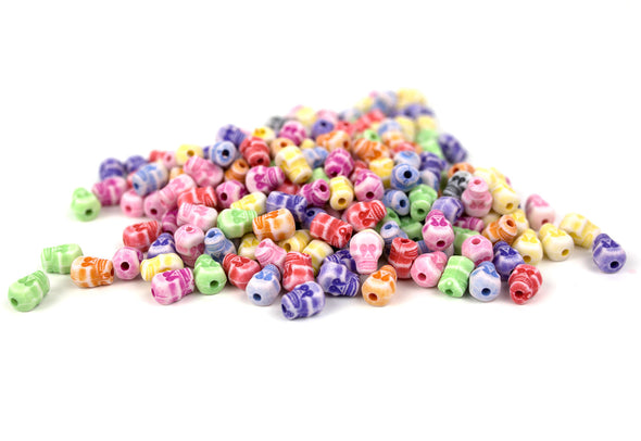 Pastel Collection | Skull Beads (200/Pack) - Kandies World