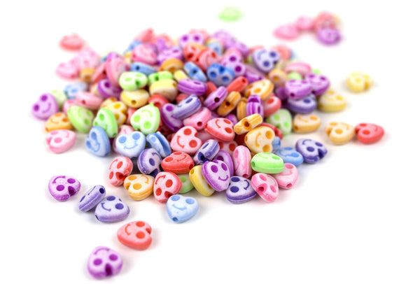 Pastel Collection | Smiley Heart Beads (200/Pack) - Kandies World
