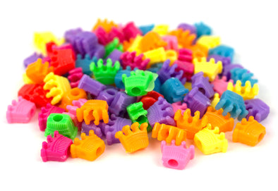 Multicolored Rave King Crown Beads (75/Pack) - Kandies World