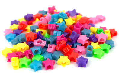 Multicolored Star Beads (75/pack) - Kandies World