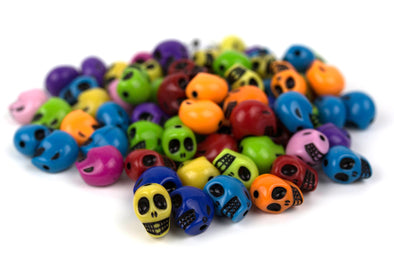 Electric Skull Squad Beads (50/Pack) - Kandies World