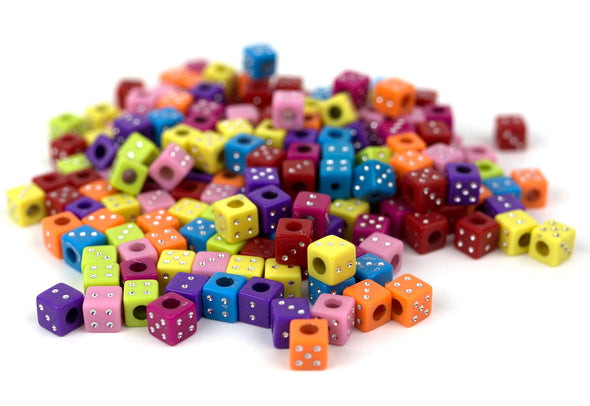 Las Vegas Dice Beads (100/Pack) - Kandies World