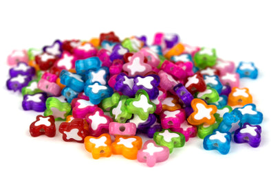 Electric Butterfly Beads (125/Pack) - Kandies World