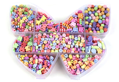 Pastel Butterfly DIY Bead Kit (1000/Kit) - Kandies World