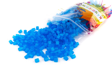 Translucent Neon Blue Kandi Perler Beads - Kandies World