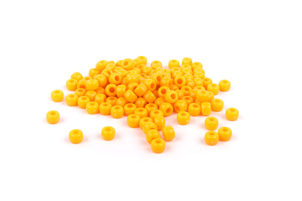 Orange Barrel Pony Beads (300/Pack) - Kandies World