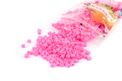 Neon Pink Fuse Bead (1000/Pack) - Kandies World
