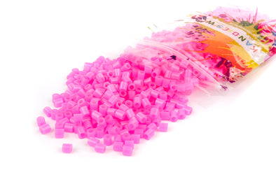 Translucent Neon Pink Fuse Bead (1000/Pack) - Kandies World