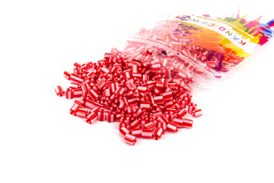Candy Red And White Fuse Beads (300/Pack) - Kandies World