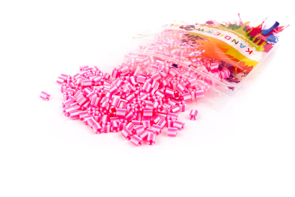 Candy Pink And White Fuse Beads (300/Pack) - Kandies World