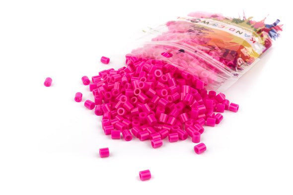 Hot Pink Fuse Bead (1000/Pack) - Kandies World
