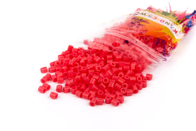 Translucent Red Fuse Bead (1000/Pack) - Kandies World