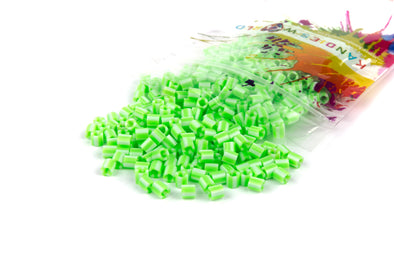 Candy Green And White Fuse Beads (300/Pack) - Kandies World