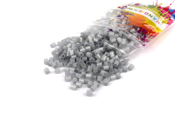 Shiny Silver Fuse Bead (1000/Pack) - Kandies World