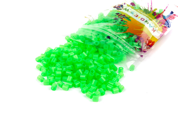 Translucent Neon Green Fuse Bead (1000/Pack) - Kandies World