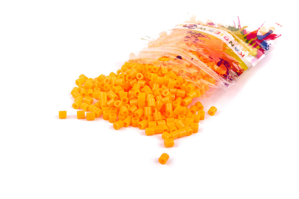 Neon Orange Fuse Bead (1000/Pack) - Kandies World