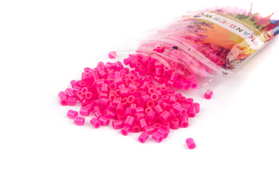 Translucent Hot Pink Fuse Bead (1000/Pack) - Kandies World