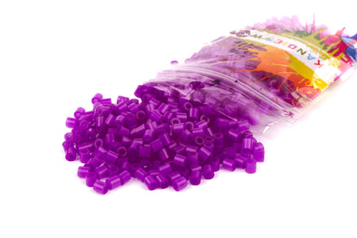 Translucent Neon Purple Kandi Perler Beads - Kandies World
