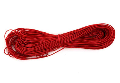 Red Elastic Cord & String for DIY Masks, Crafts, Beading, Bracelet -1mm Diameter, 20 to 200 Yards - Kandies World