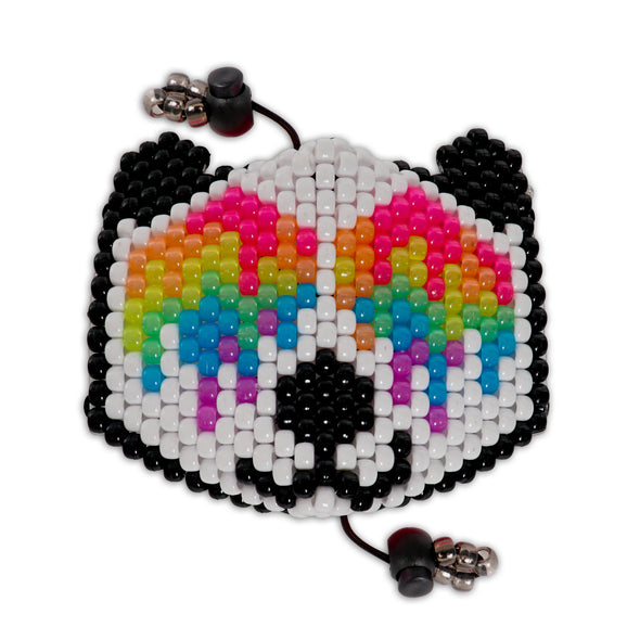 Trippy Acid Panda Bear Surgical Kandi Mask - Kandies World