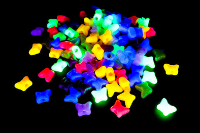 Neon UV Butterfly Beads (150/Pack) - Kandies World