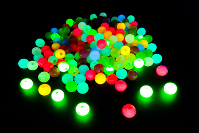 Mini Round Neon UV Pony Beads (250/Pack) - Kandies World