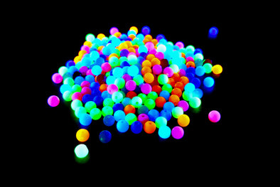 SOLID MINI ROUND NEON UV REACTIVE PLASTIC PONY BEADS (150/Pack) - Kandies World