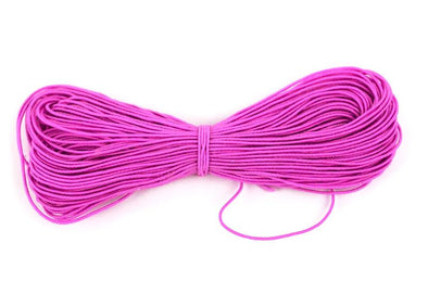 Pink Elastic Cord, Round Stretchy String for DIY Masks, Crafts, Beading, Bracelet - 1mm Thickness in 20 to 200 Yards - Kandies World