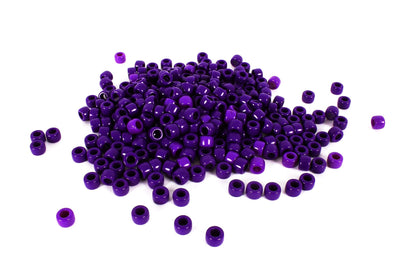 Purple Barrel Pony Beads (300/Pack) - Kandies World