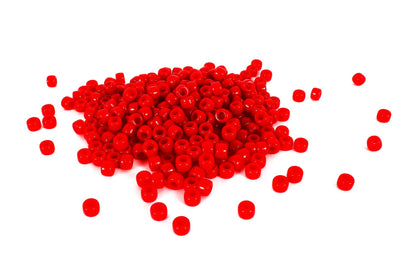Red Barrel Pony Beads (300/Pack) - Kandies World