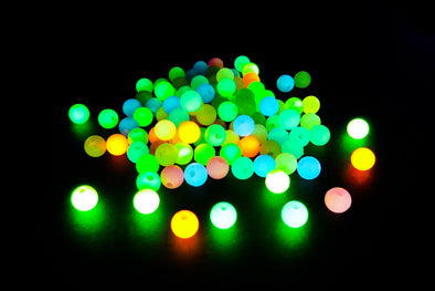 Round Neon Glow In the Dark Plastic Pony Beads (150/Pack) - Kandies World