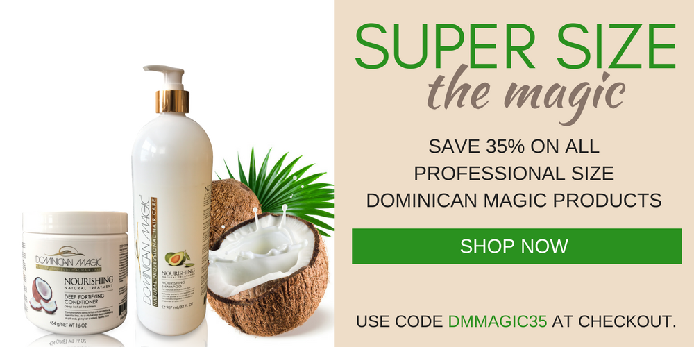 Save 35% on all Dominican Magic Hair Products